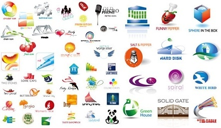 logo sets collection various colored shapes design
