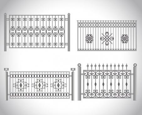 vector realistic guardrail fence