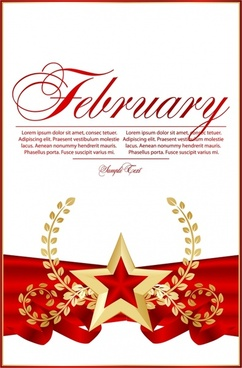 anniversary banner dynamic shiny red gold star wreath