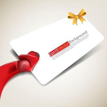 gift tag template ribbon bow decor modern 3d