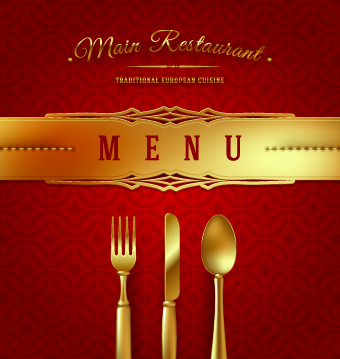 vector restaurant design elements