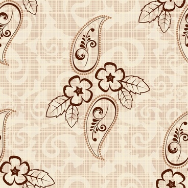 flower pattern flat retro handdrawn sketch