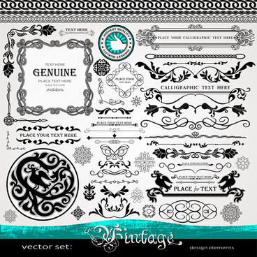vector retro borders with frames decor