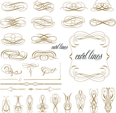 vector retro calligraphic elements set