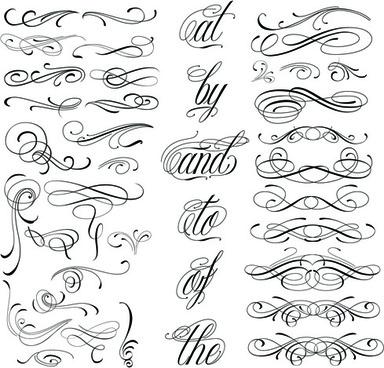 calligraphic design elements free vector download 28 702 free