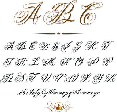 vector retro calligraphic elements set