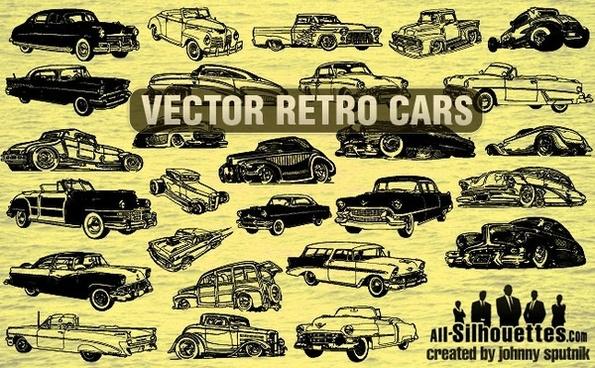 Vector Retro Cars