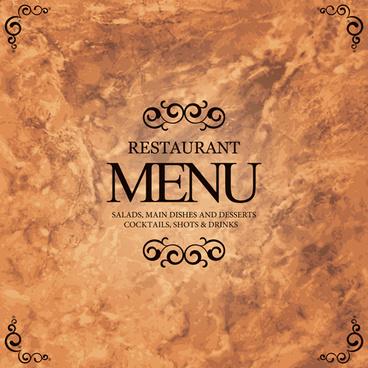 vector retro menu design