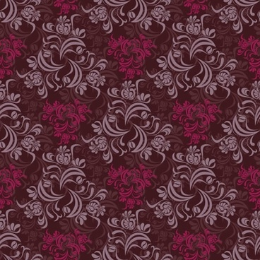 flowers pattern dark colored elegant classical repeating design