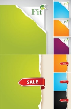 sales tag templates colored plain ragged paper sketch