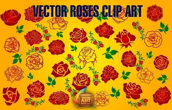 Vector Roses Clip Art