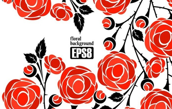 red roses background seamless ornament