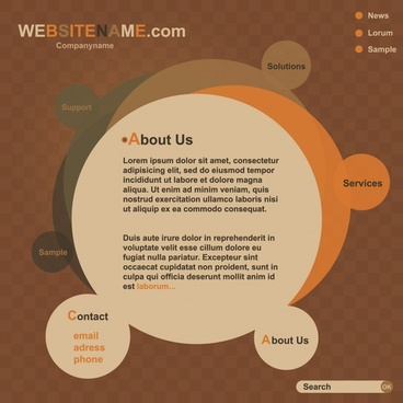 vector round web templates