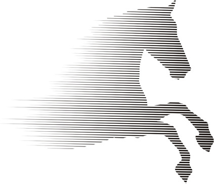 vector running horse abstract