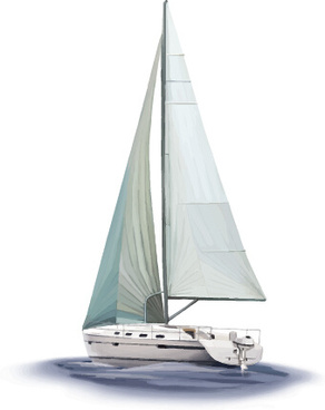vector sailing boat design