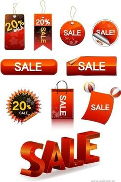 vector sale discount tag button