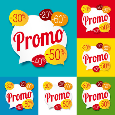 vector sale promo labels