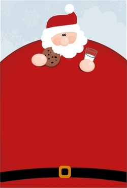 vector santa claus obesity