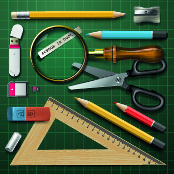 vector school design elements set