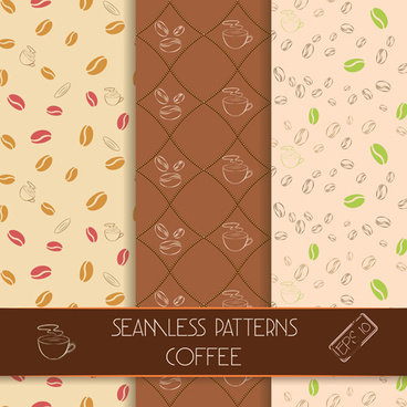 vector seamless coffee pattern graphics
