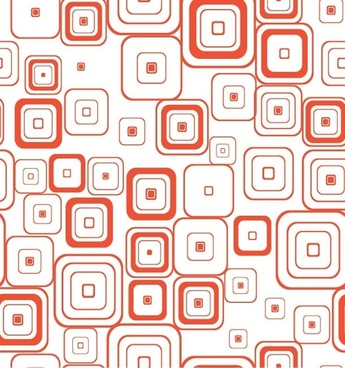 Vector Seamless Retro Pattern With Rounded Squares
