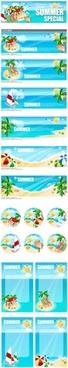vector seaside leisure
