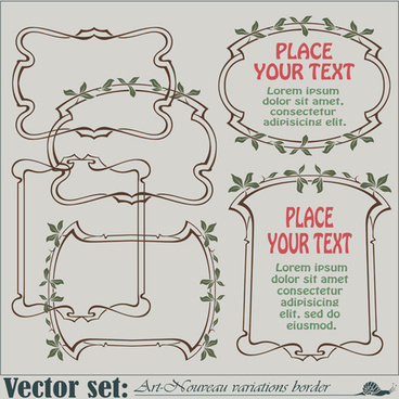 vector set art frames design elements