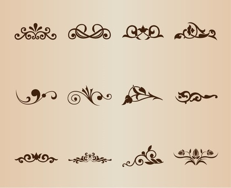 Vector Border Decoration Design Elements Free Vector In Encapsulated Awesome Decorative Design Elements