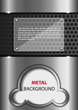 vector set metal mesh background graphics