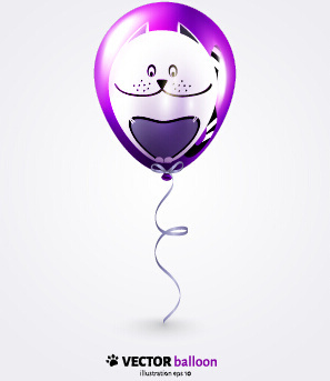 vector set of balloon background creative design