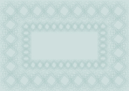 vector set of blank certificate and guilloche frame with pattern