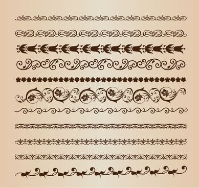 vector set of border elements