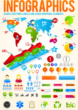 vector set of business graphics and symbols elements