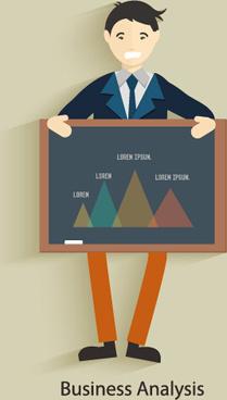 vector set of businessman design elements