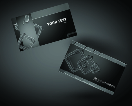 vector set of creative business card elements