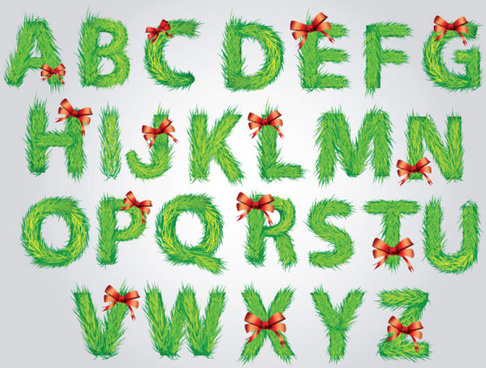 vector set of creative letters design element