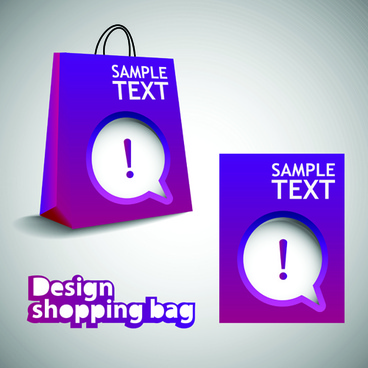 vector set of creative shopping bags design elements