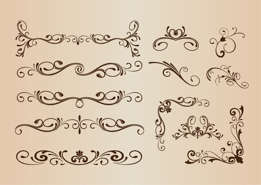 vector set of decorative elements