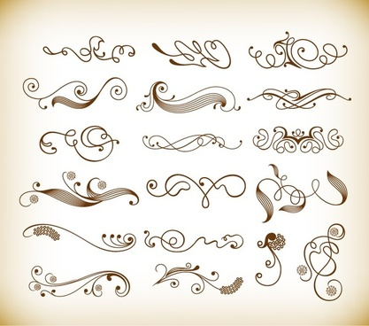 vector set of decorative elements for design