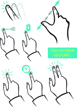 vector set of different gestures graphic