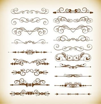 vector set of divider decoration elements