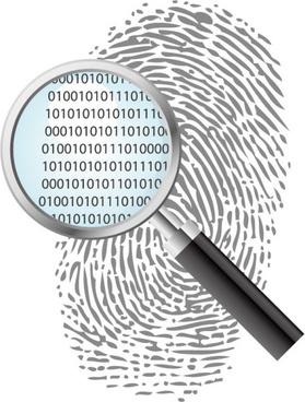 vector set of fingerprints design elements