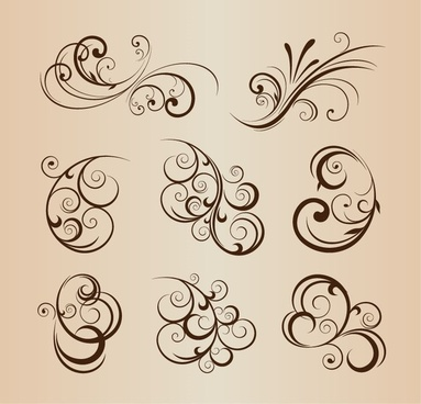 Photoshop floral custom shapes free vector download (20,566