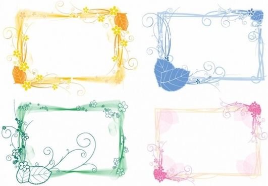 Vector Set of Floral Frames