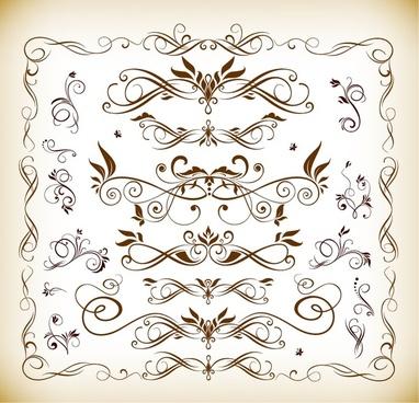 vector set of floral ornaments