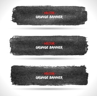 vector set of grunge banner