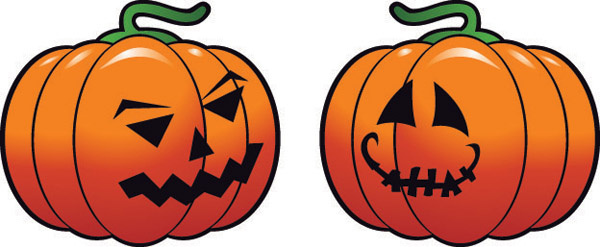 vector set of halloween pumpkin design