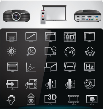 vector set of modern appliances hd icons