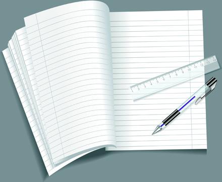 vector set of open notepad design elements
