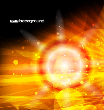 vector set of orange sunlight background art